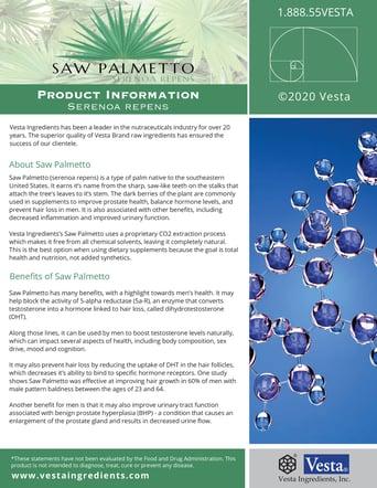 Saw Palmetto Page 1